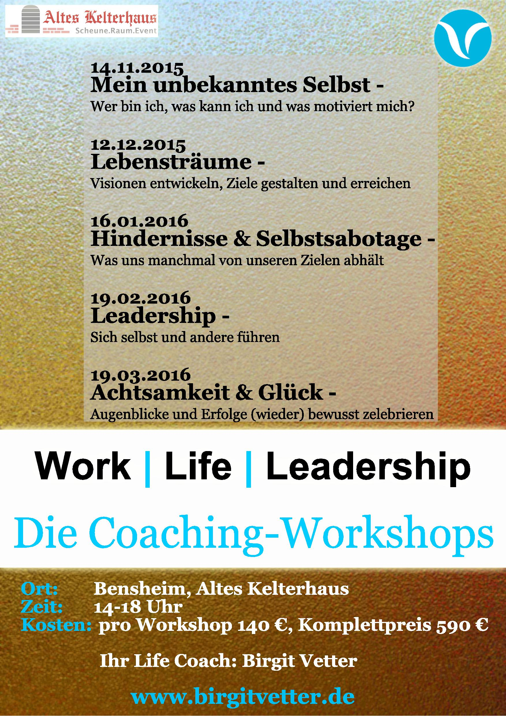 Work | Life | Leadership Workshop
